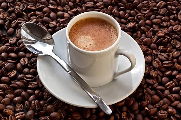 Espresso Coffee On Coffee Beans Wall Art