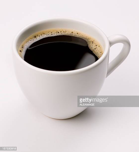 espresso  coffee on white - mug stock pictures, royalty-free photos & images
