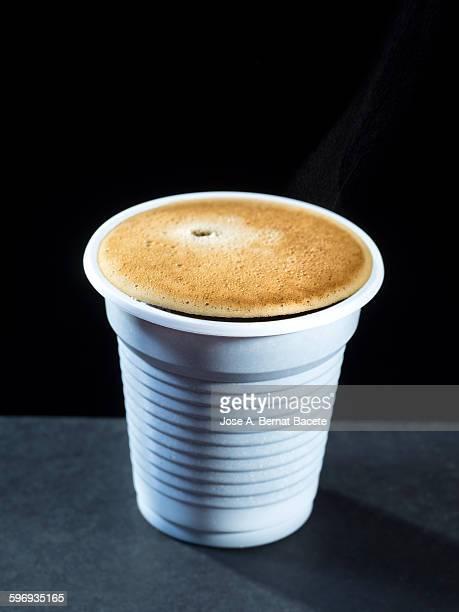 Espresso coffee plastic cup