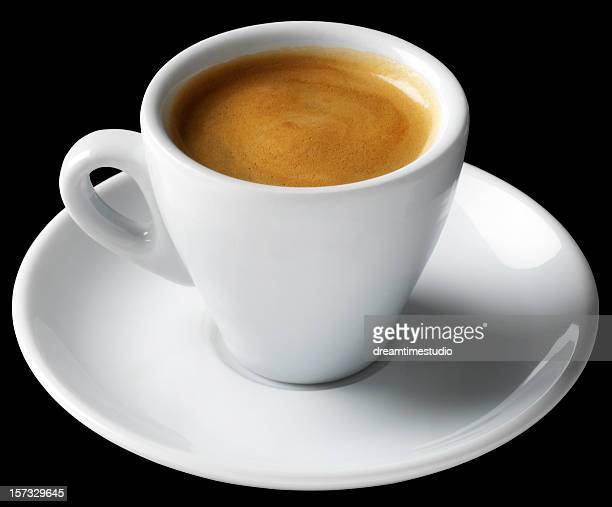 espresso coffee short black - espresso stock photos and pictures
