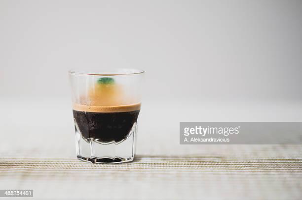 Espresso in a glas cup