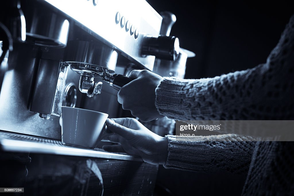 Espresso making machine : Stock Photo