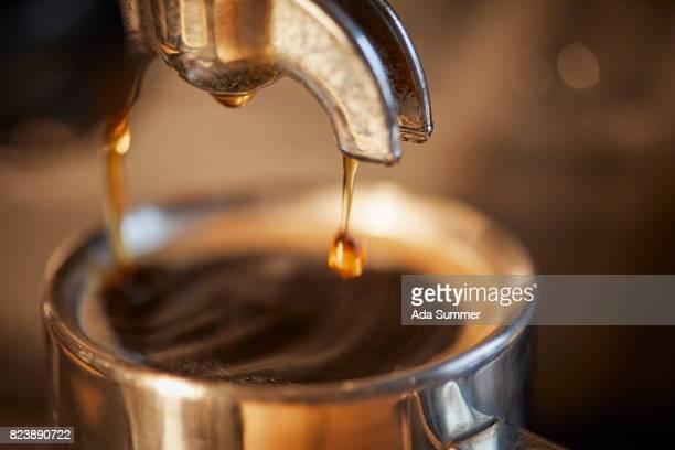 Espresso shot pouring out