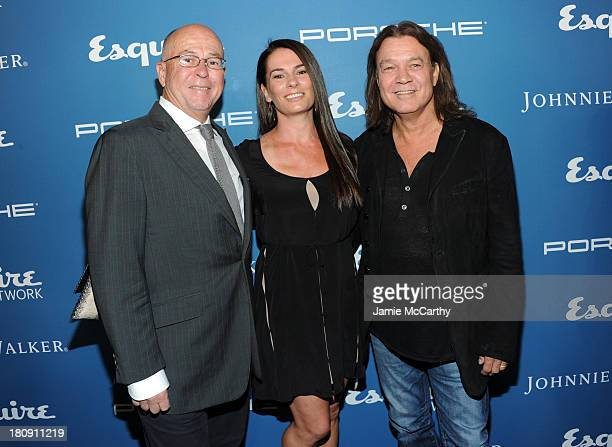 Esquire EditorinChief David Granger Janie Liszewski and Musician Eddie Van Halen attend the Esquire 80th anniversary and Esquire Network launch...