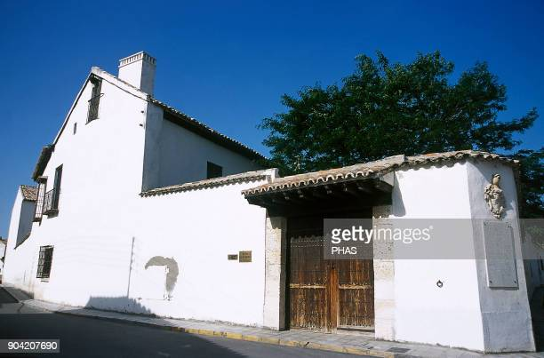 Esquivias province of Toledo CastileLa Mancha Spain House of Cervantes House where Miguel de Cervantes Saavedra lived between 1573 and 1587 He wrote...