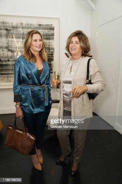 Esra Cavusoglu and Gulsen Capa during the Celebration Of Achille Salvagni at Maison Gerard at the Elizabeth Collective on November 19 2019 in New...