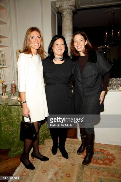 Esra Munnell Grace Chao and Amy Cappellazzo attend Angela A Chao hosts The New York City Opera PreGala Celebration at Private Residence on October 21...