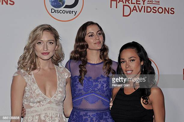 Essa OShea Annie Read and Jessica Camacho at Petersen Automotive Museum on August 1 2016 in Los Angeles California