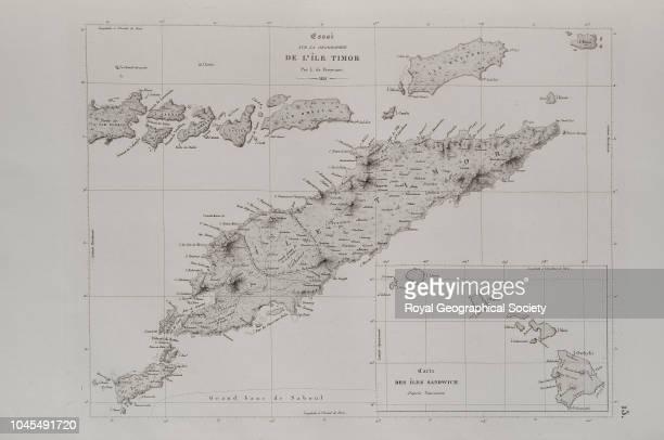 Essai sur la geographie de l'ÎIe Timor From 'Voyage autour du monde entrepris par ordre du Roi exécuté sur les corvettes de SM l'Uranie et la...