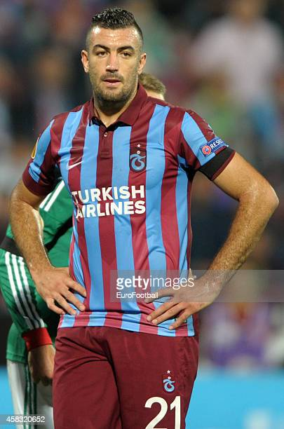 Essaid Belkalem of Trabzonspor AS in action during the UEFA Europa League Group L match between Trabzonspor AS and Legia Warszawa at the Hüseyin Avni...