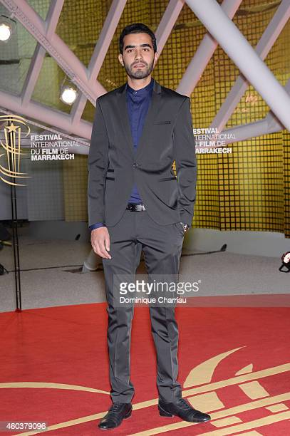 Essam Doukhou attends the 'Cinecoles Jury Members' photocall during the 14th Marrakech International Film Festival on December 12 2014 in Marrakech...