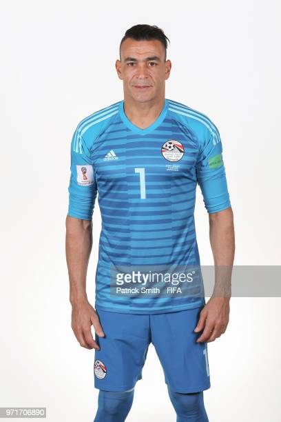 Essam ElHadary of Egypt poses for a portrait during the official FIFA World Cup 2018 portrait session at The Local Hotel on June 11 2018 in Gronzy...