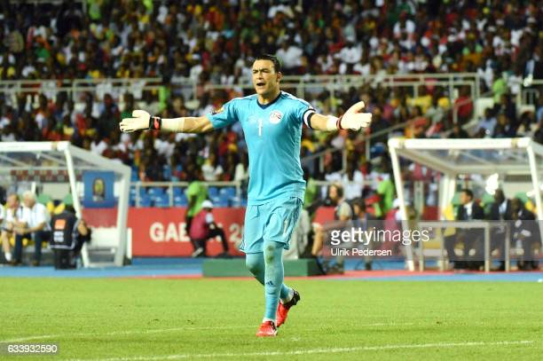 Essam Kamal Tawfik Elhadary during the African Nations Cup Final match between Cameroon and Egypt at Stade de L'Amitie on February 5 2017 in...