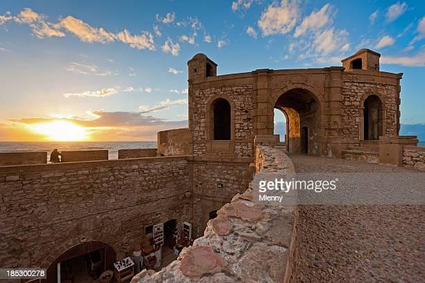 Essaouira forteresse coucher du soleil au Maroc