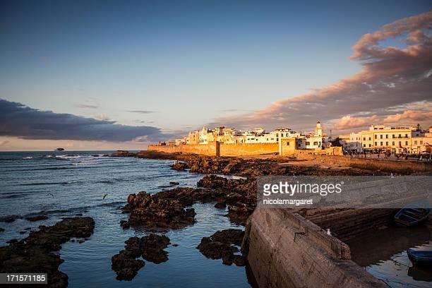 Essaouira, Morocco: The medina at sunset