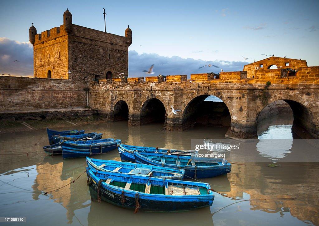 Essaouira, Morocco: The ramparts of Skala de la Ville : Stock Photo
