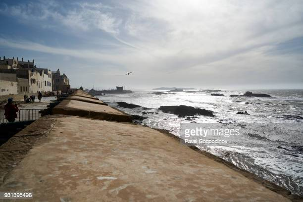 Essaouira Ramparts at the The Skala du Port, a fortification that defends the harbor entrance