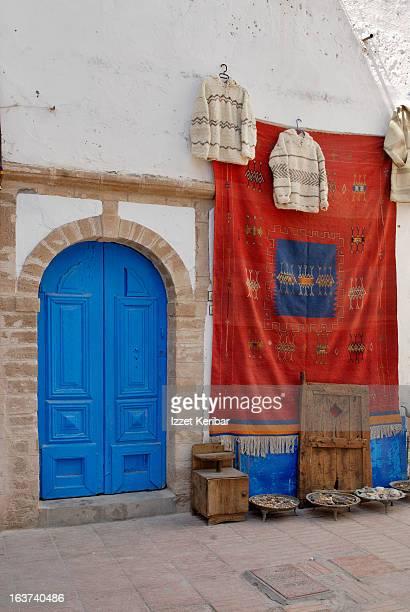 Essaouira, Red Carpet Blue Door
