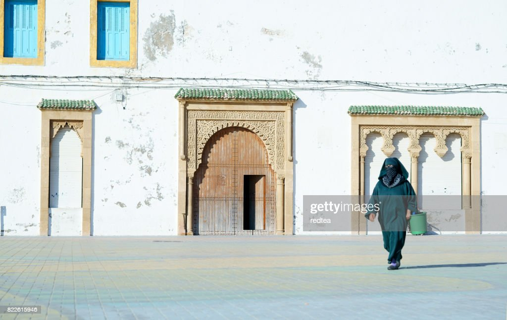 Essaouira wall in late afternoon : Stock Photo