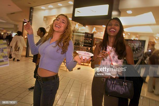 Essay on low rise pants and the real folks wearing the many versions of them ^^^ Anna Nersesyan left and Shazeena Ali cruz the Beverly Center in hip...