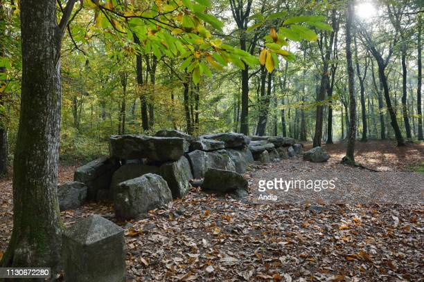 Esse : dolmen of La Roche-aux-Fees , megalithic monument registered as a National Historic Landmark .