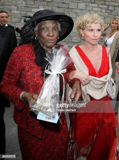 Esseline KerssenbergBradley grandmother of Sharlely Kerssenberg and Sabine BeckerSchorp sister of Boris Becker depart after the church wedding of...