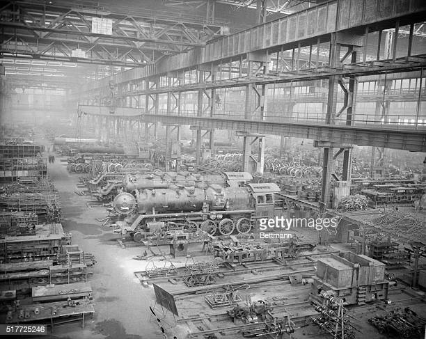 Typical scene in the Ruhr Valley heart of industrial Germany whose reconstruction is now the subject of bitter dispute between French and...