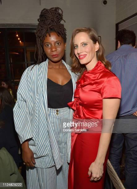 Essence Arden and Liz Goldwyn attend Liz Goldwyn and MATCHESFASHIONCOM celebrate the launch of Frieze LA at Gracias Madre on February 13 2019 in West...