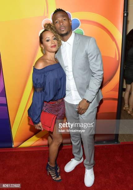 Essence Atkins and Marlon Wayans at the NBCUniversal Summer TCA Press Tour at The Beverly Hilton Hotel on August 3, 2017 in Beverly Hills, California.