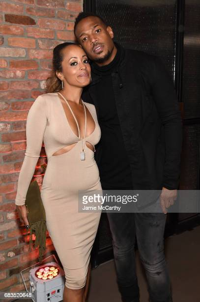 Essence Atkins and Marlon Wayans attend the Entertainment Weekly and PEOPLE Upfronts party presented by Netflix and Terra Chips at Second Floor on...