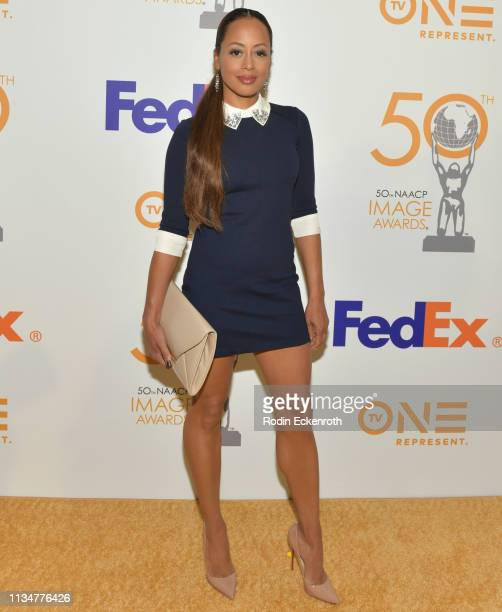 Essence Atkins attends the 50th NAACP Image Awards Nominees Luncheon at Loews Hollywood Hotel on March 09 2019 in Hollywood California