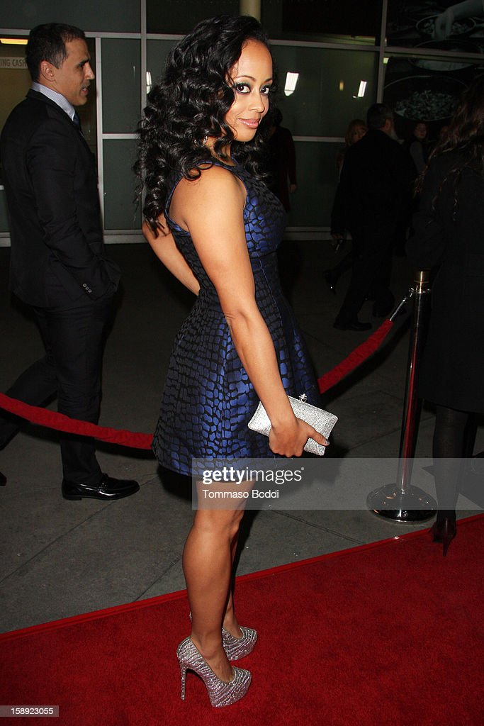 Essence Atkins attends the 'A Haunted House' Los Angeles premiere held at the ArcLight Hollywood on January 3, 2013 in Hollywood, California.