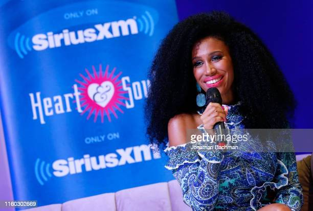 Essence chief content and creative officer MoAna Luu reacts during SiriusXM's Radio Andy Channel Broadcast from Essence Festival at Ernest N Morial...