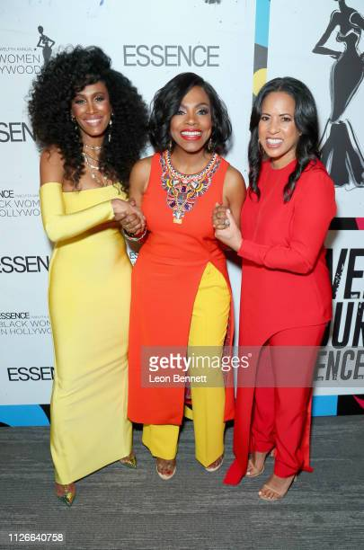 Essence Chief Content Creative Officer Moana Luu Sheryl Lee Ralph and Essence Communications President Michelle Ebanks attend the 2019 Essence Black...