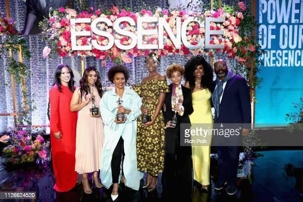 Essence Communications President Michelle Ebanks honoree Regina Hall honoree Jenifer Lewis honoree KiKi Layne honoree Amandla Stenberg Essence Chief...