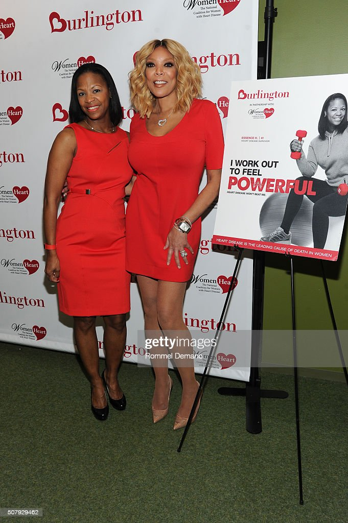 Essence Harris Banks, WomeHeart Champion and Wendy Williams attend #HealthyHeartSelfie Challenge at Initiative New York Headquarters on February 1, 2016 in New York City.