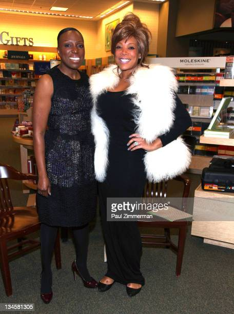 Essence Magazine EditoratLarge Mikki Taylor and TV personality Wendy Williams promote Commander In Chic at Barnes Noble on December 2 2011 in...