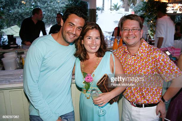 Essene Wolf Jacquelynn Powers and Eric Newill attend Launch of Diane von Furstenberg Soleil Swim and Beach Collection at The Delano on July 13 2007