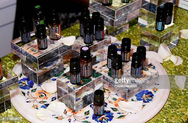 Essential oils are displayed during Global Green USA's 13th annual preOscar party at Mr C Beverly Hills on February 24 2016 in Los Angeles California