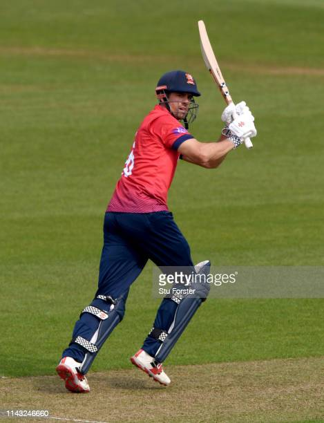 Essex batsman Alastair Cook clips a ball to the boundary during the Royal London One Day Cup match between Glamorgan and Essex at Sophia Gardens on...