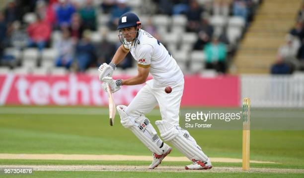 Essex batsman Alastair Cook picks up some runs during day one of the Specsavers County Championship Division One match between Worcestershire and...