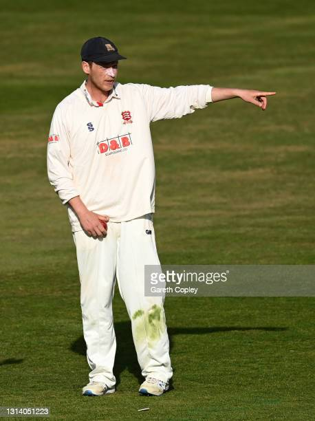 Essex captain Tom Westley directs the field during the LV= Insurance County Championship match between Warwickshire and Essex at Edgbaston on April...