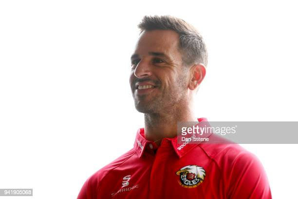 Essex County Cricket Club captain Ryan ten Doeschate speaks with a member of the media during the Essex CCC Photocall at Cloudfm County Ground on...