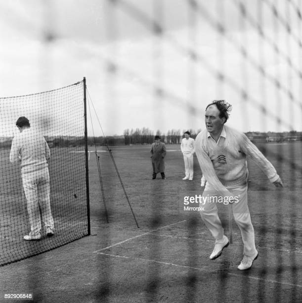 Essex Cricket Team Photocall at the Old Blue Rugby Football Club Fairlop Essex Monday 22nd April 1963 Our picture shows Bill Greensmith