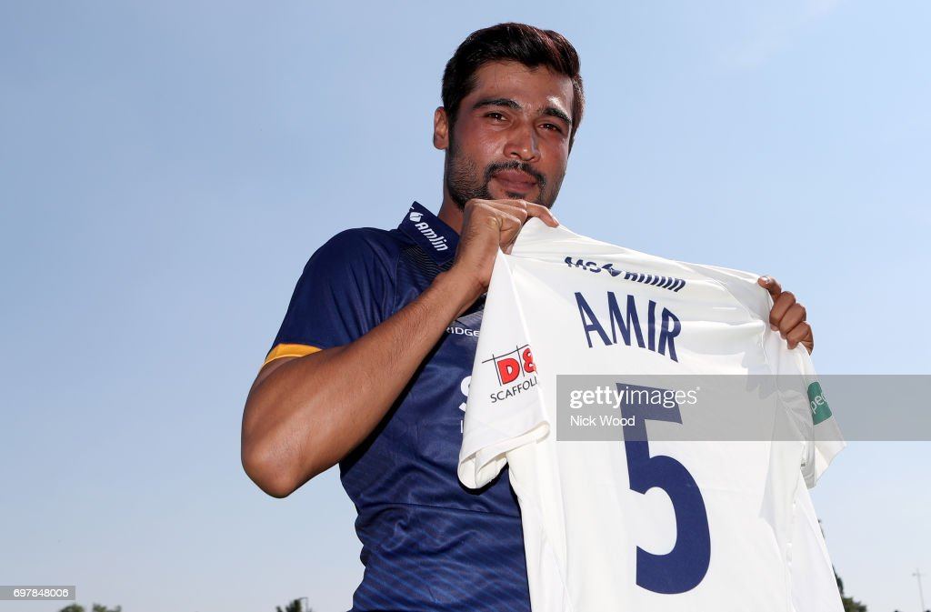 Essex Unveil New Signing Mohammad Amir during the Essex v Warwickshire - Specsavers County Championship: Division One cricket match at the Cloudfm County Ground on June 19, 2017 in Chelmsford, England.