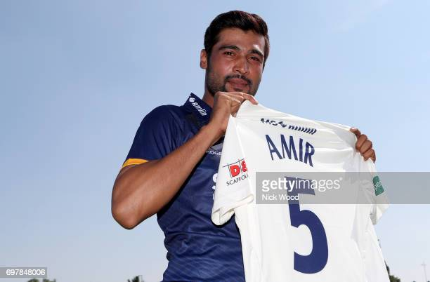 Essex Unveil New Signing Mohammad Amir during the Essex v Warwickshire Specsavers County Championship Division One cricket match at the Cloudfm...
