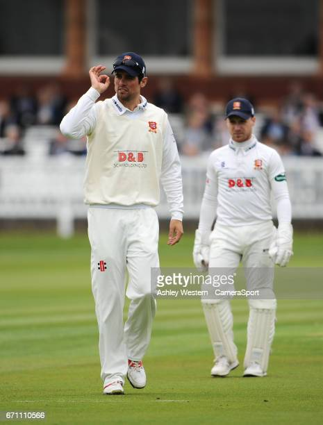 Essex's Alastair Cook on day 1 of the Specsavers County Championship Division One match between Middlesex and Essex at Lord's Cricket Ground on April...