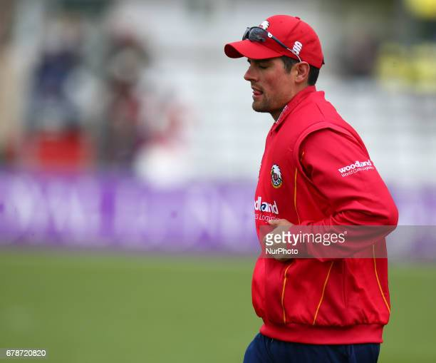 Essex's Alistair Cook during Royal London OneDay Cup match between Essex Eagles and Gloucestershire CCC at The Cloudfm County Ground Chelmsford Essex...