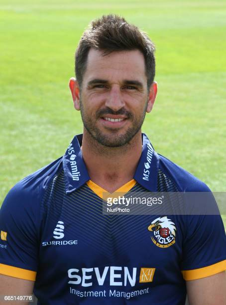 Essex's Ryan ten Doeschate poses in NatWest T20 Blast during the Essex County Cricket photocell held at The Cloudfm County Ground on April 5 2017 in...