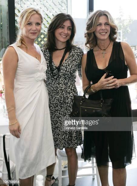 Essica Capshaw, Sasha Alexander and Rita Wilson during Diane von Furstenberg Los Angeles Store Opening - Luncheon at Diane von Furstenberg Boutique...
